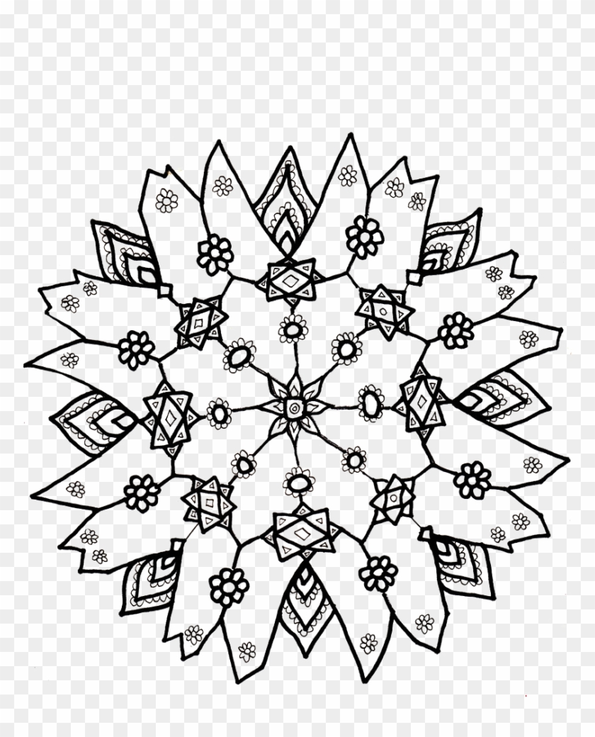 Winter Snowflake Coloring Page, Type Snowflake - Color ...