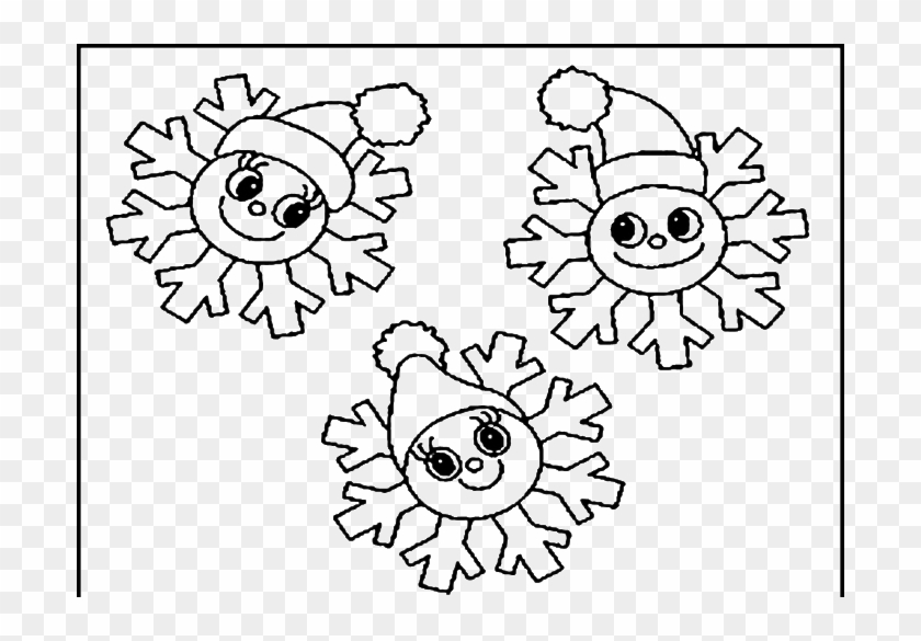 - Snowflake Smile Snowman Coloring Pages Winter - Coloring Book - Free  Transparent PNG Clipart Images Download