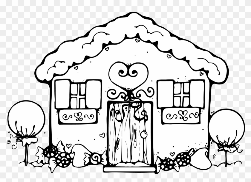 - Gingerbread House Coloring Pages For Kids Clipart - Gingerbread House  Coloring Pages - Free Transparent PNG Clipart Images Download