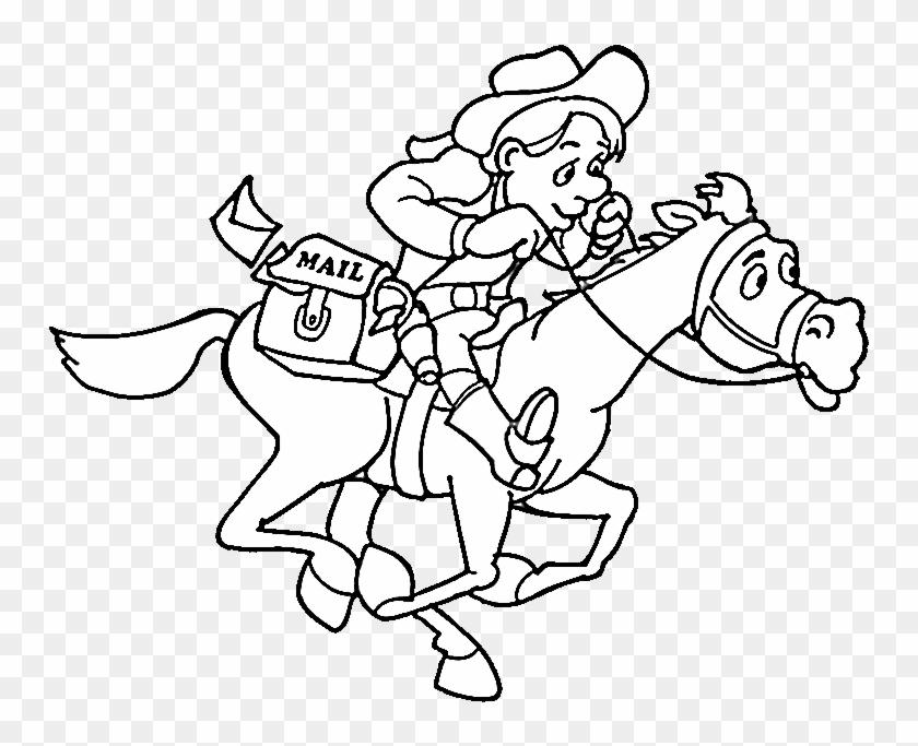 Cowboy Coloring Pages Cowboy Coloring Pages 2 Purple - Cowboy ...