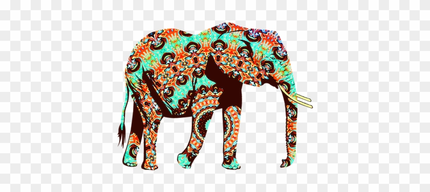 Session 1- Addressing The Elephant In The Room - Cool Orange,brown And Turquoise Elephant Throw Blanket #1182060