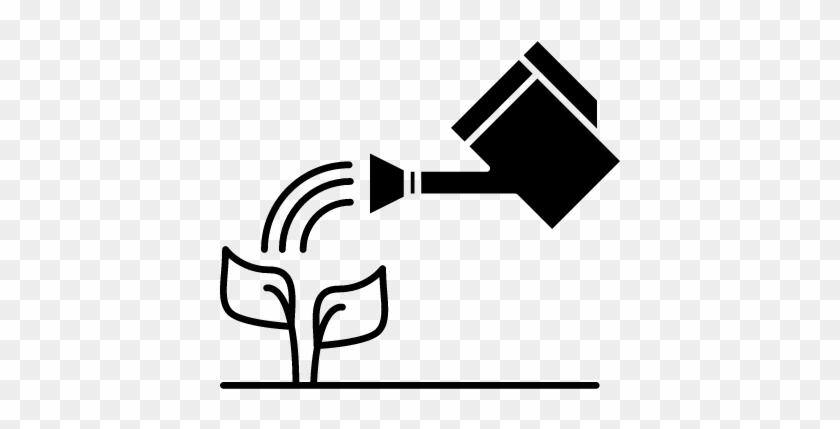 Watering A Plant Vector - Watering Plants Icon #1182371