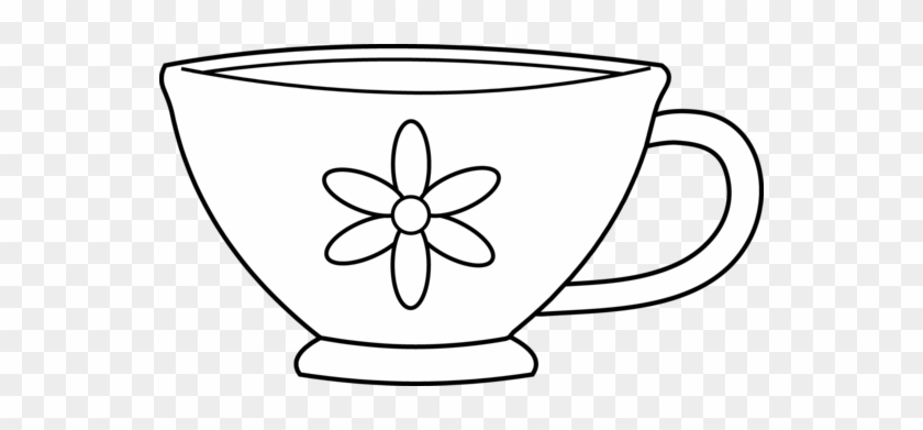 Tea Cup Coloring Page #1182373