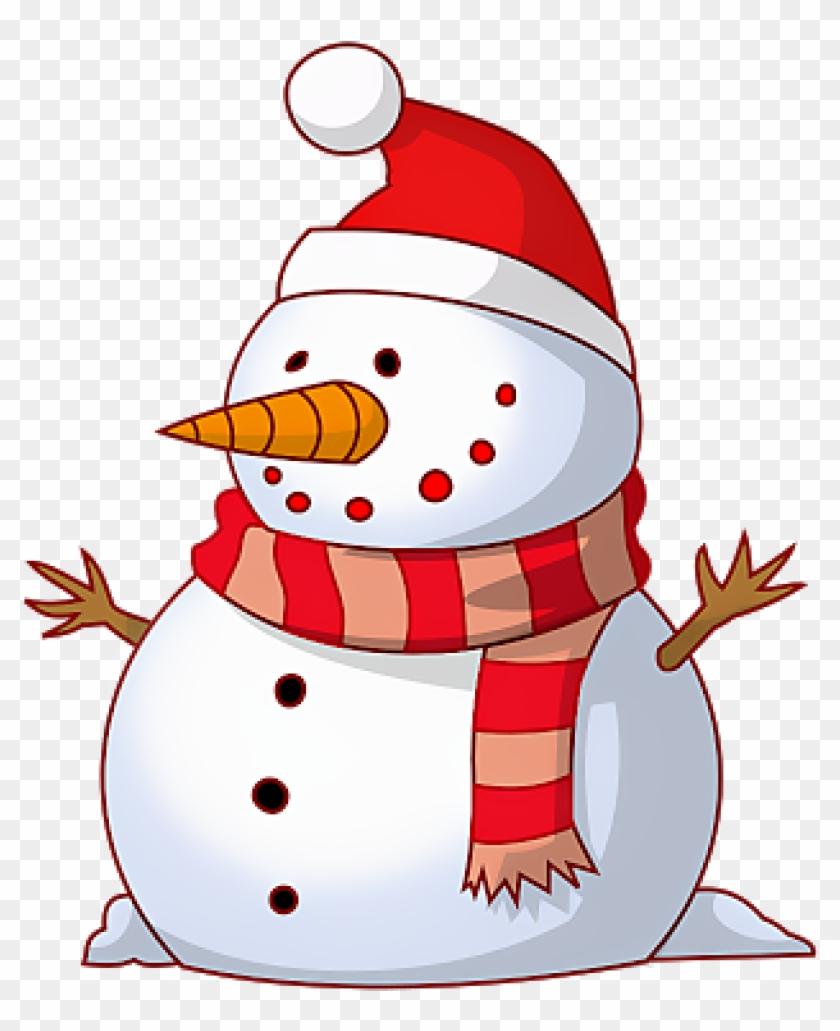 Snowman Clipart Free Merry Christmas Snowman Clipart - Christmas Snowman Clipart #1182412