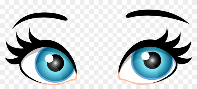 Blue Female Eyes Png Clip Art 2306 Clipart Of - Eyes Clipart Png #1182789