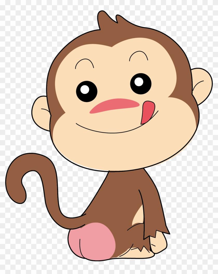 Прикольный рисунок обезьянки