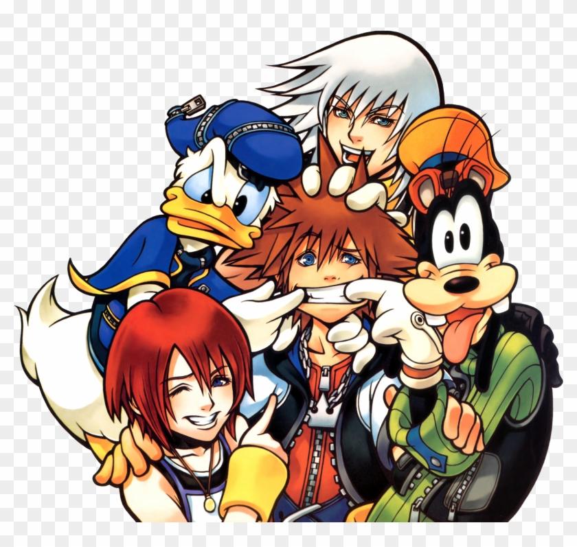1boy 1girl Blonde Hair Fate/prototype Fate Green Eyes - Kingdom Hearts 1 Art #1183087