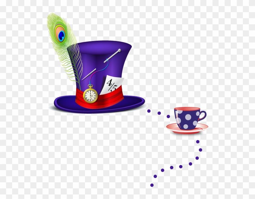 Mad Hatter S Hat And Teacup Coffee Cup Free Transparent Png Clipart Images Download