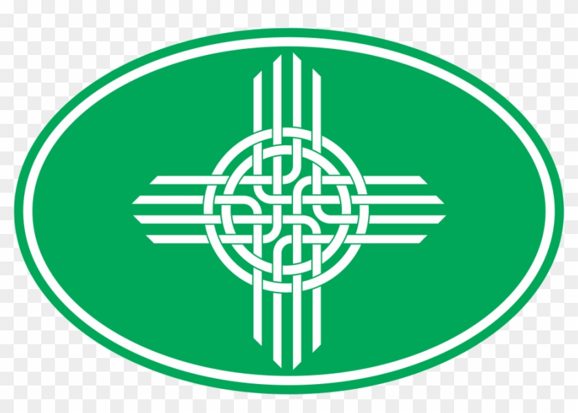 Celtic Zia Oval Decal Green Symbols Of New Mexico Free