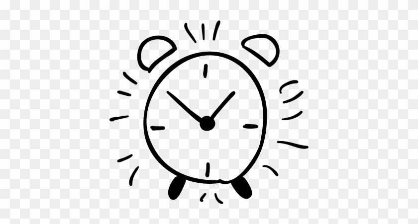 Alarm Clock Hand Drawn Outline Vector - Hand Drawn Clock Face #1184711