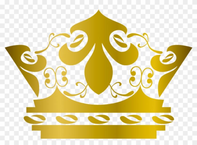 Crown Of Queen Elizabeth The Queen Mother Gold Clip - Gold Crown #1184994