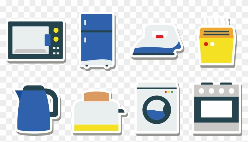 Home Appliance Kitchen Refrigerator Icon Electrodomesticos Vector