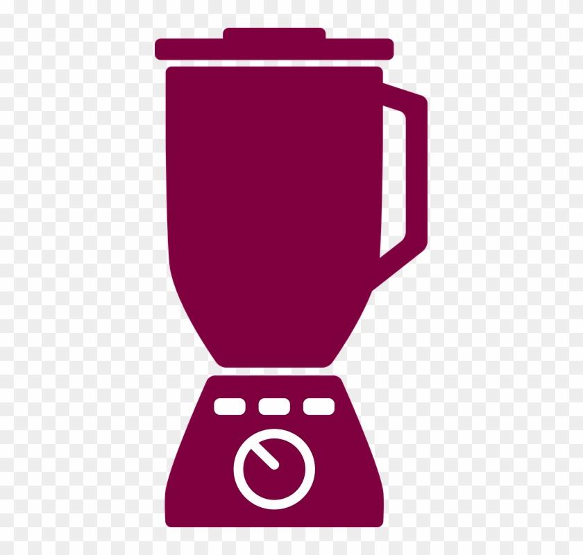 Kitchen Appliances Color Icons Set Mixer Grinder Vector