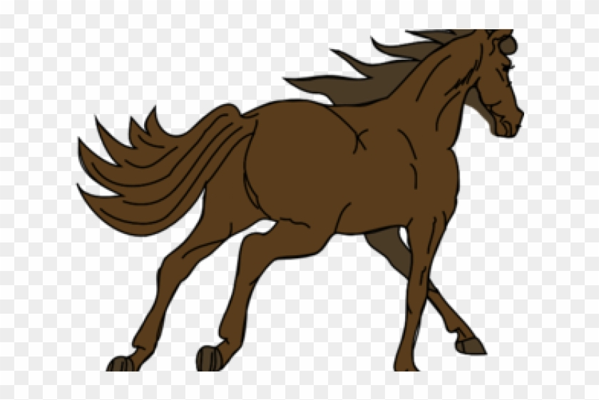 Horse Clipart Light Brown Horse Running Away Round Ornament Free