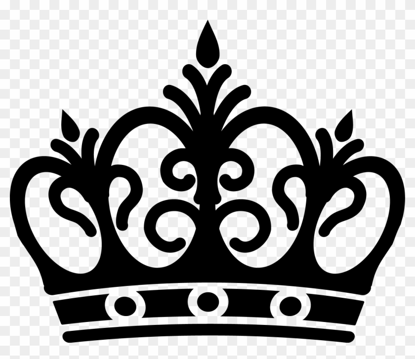 Crown Vector Png Queen Crown Black And White Free Transparent