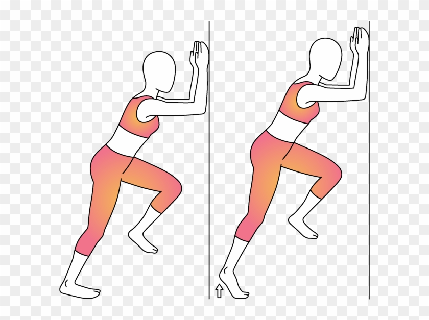 Bend Elbows And Place Forearms On Wall In Front Of - Illustration #1185387