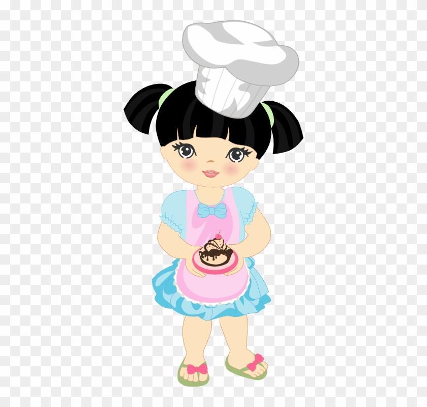 Food Clipart, Girl Clipart, Pastry Chef, Art Girl, - Desenho Chef De Cozinha Menina Png #193466