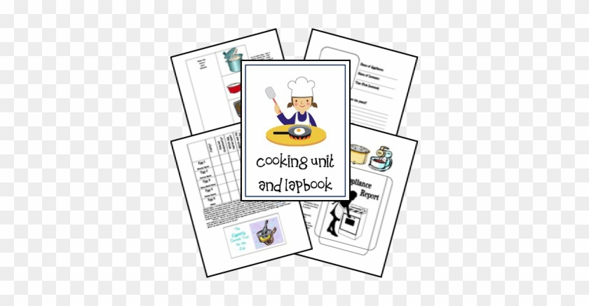 Free Cooking Unit And Lap Book Designed For Age 8-12 - Lapbook Kitchen #193557