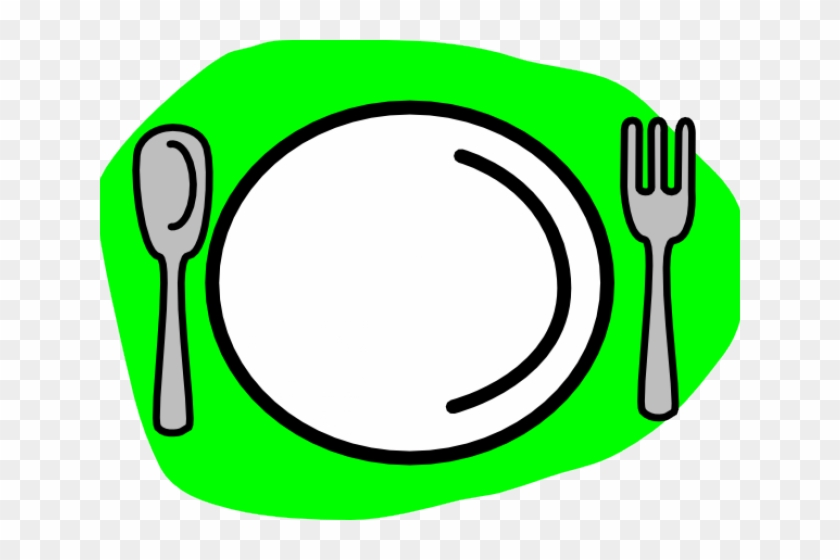 Knife Clipart Cute - Plate And Spoon And Fork #194153