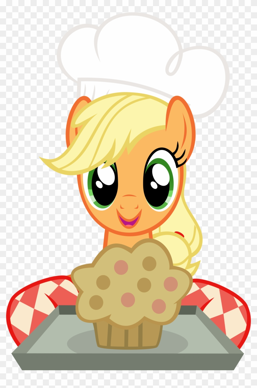 Abydos91, Baking, Chef's Hat, Hat, Muffin, Safe, Simple - Applejack And Princess Cadence #194166