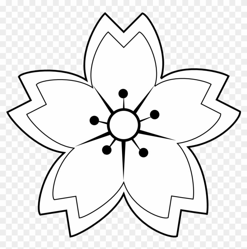 Black White Flower Tattoos Sakura Flower Drawing Black And White