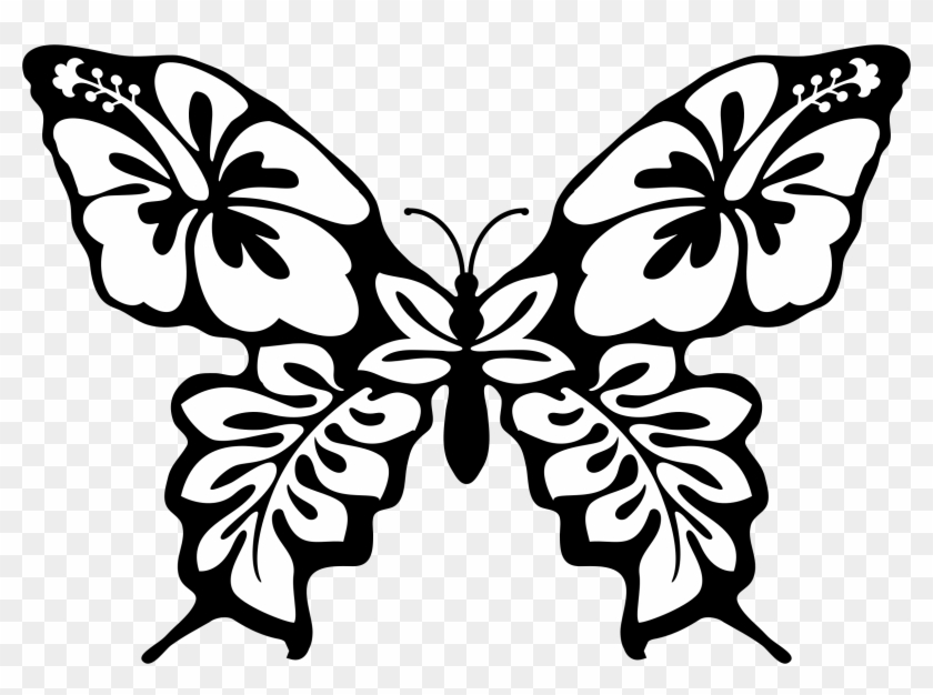 Clipart Easy Drawings Of Flowers And Butterflies Free
