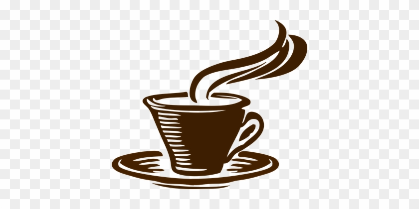 Coffee Cup Drink Cafe Brown Mug Caffeine H - Coffee Cup Vector Png #194378