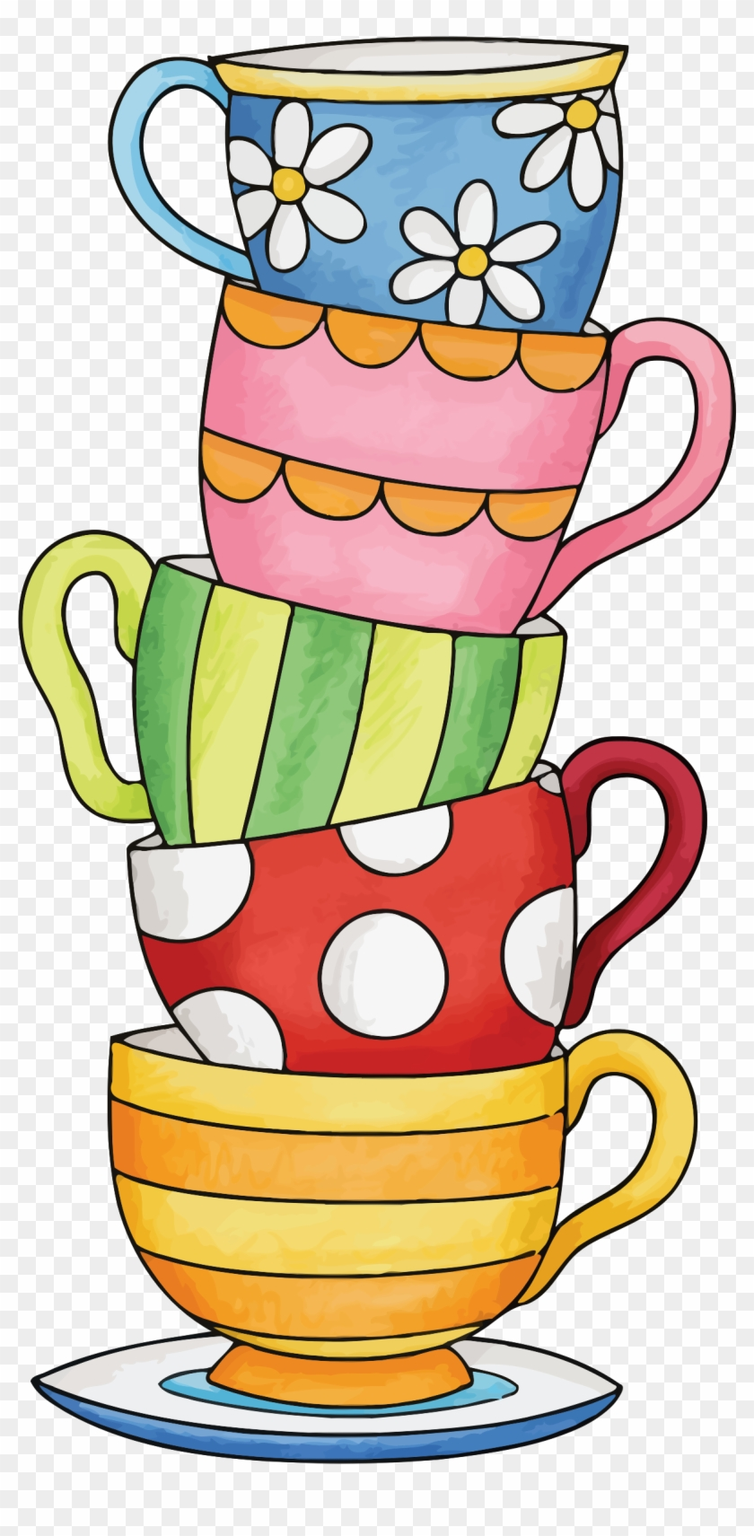 Big Image - Stack Of Cups Clipart #194380