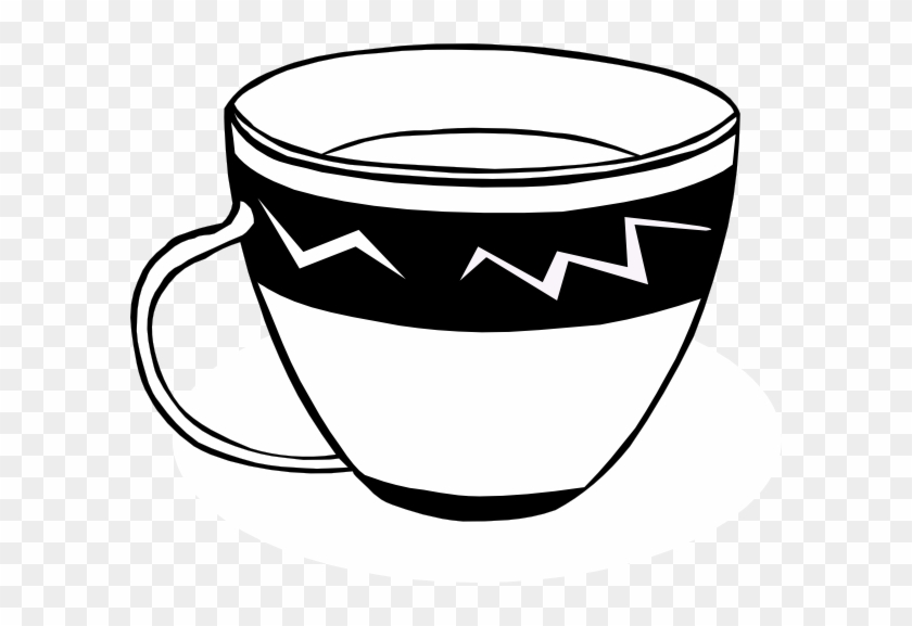 Png Cup Black And White Transparent Cup Black And White - Tea Cup Clip Art #194442