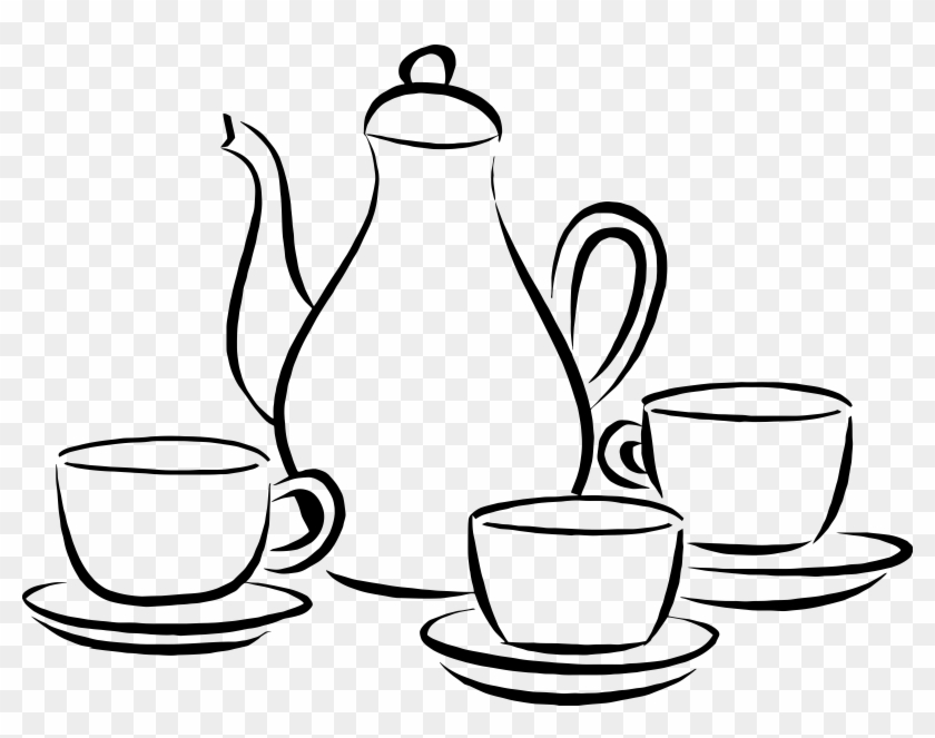 This Free Icons Png Design Of Coffee Pot And Cups - Coffee Pot And Cups #194488