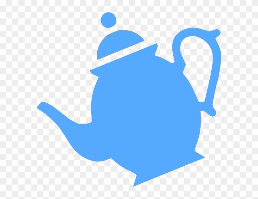 Teapot Pouring Clip Art - Tea Pot Clip Art Blue #194562