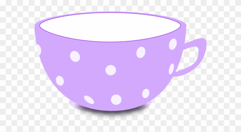 Purple And White Clip Art At Clker - Cute Tea Cup Clipart #194637