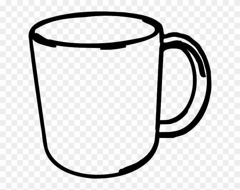 Mug Black And White Drawing #194735