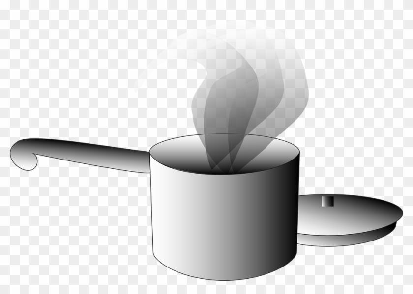 Pot With Lid Clip Art At Vector Clip Art - Steaming Pot Clip Art #194738