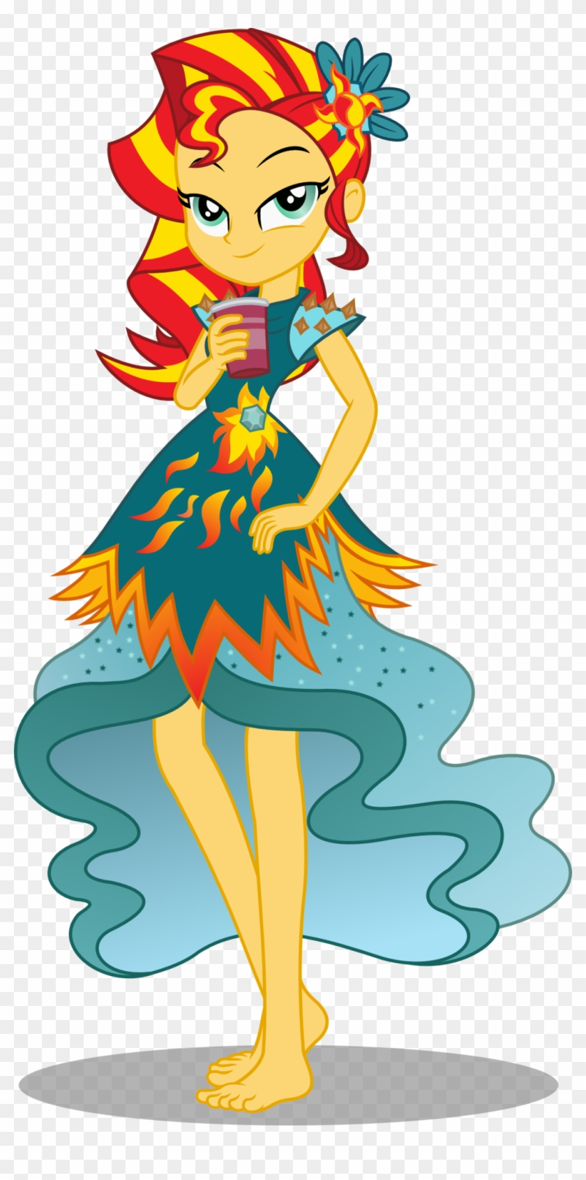 Seahawk270, Barefoot, Beverage, Clothes, Crystal Gala, - Equestria Girls Legend Of Everfree Sunset Shimmer #194757
