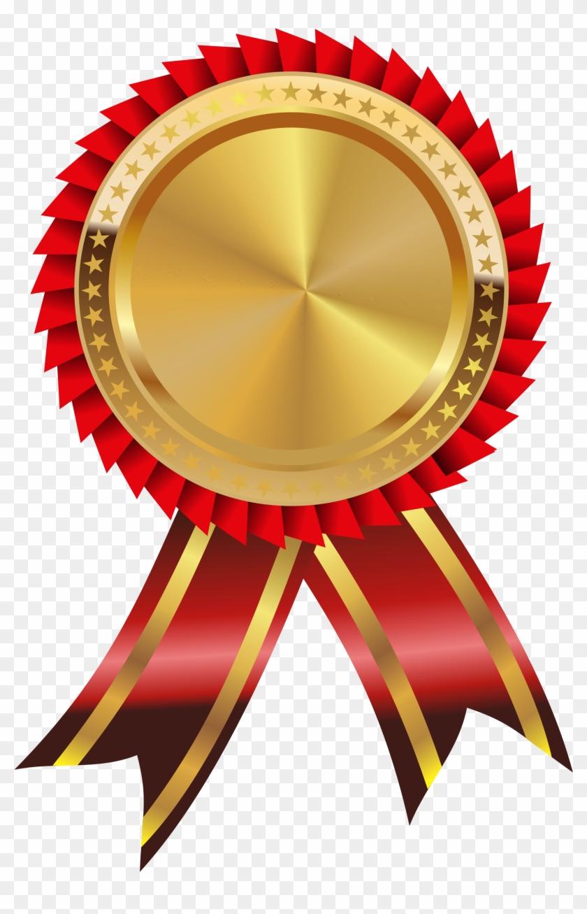 Gold Medal Clipart Savoronmorehead - Gold Medal Ribbon Png #194776