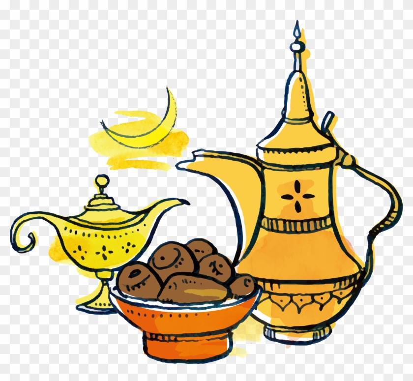 Fasting In Islam Ramadan Clip Art - Clipart Ramadan Date Png #194853
