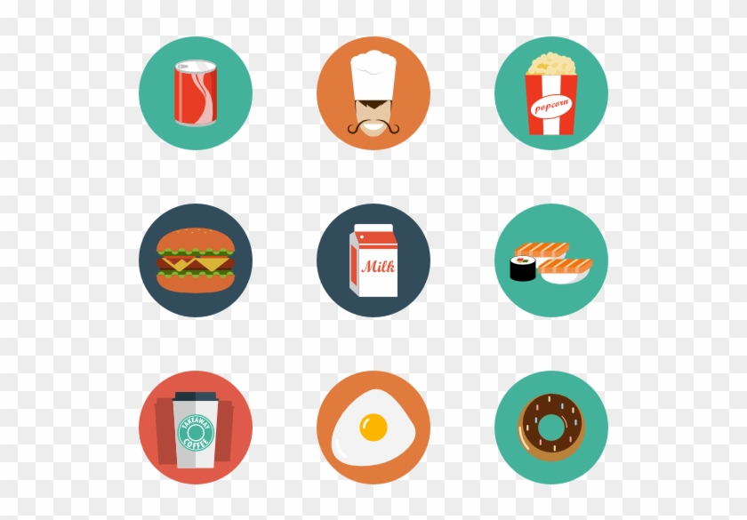 Food & Drink 13 Icons - Graphic Design Flat Icon #194862