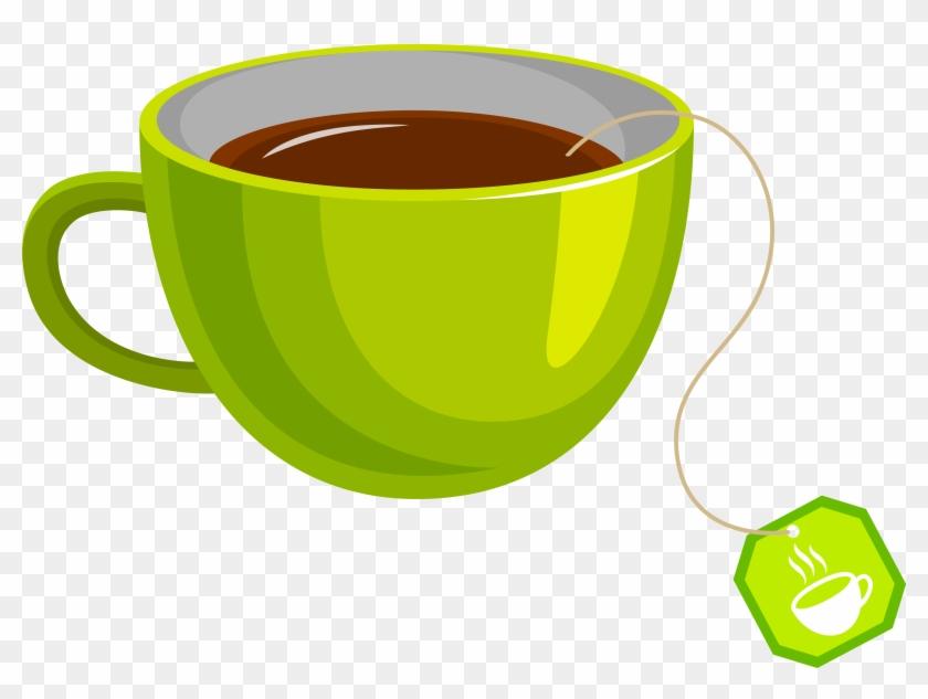 Green Tea Coffee Cup Teacup - Tea Cup Vector Png #194880