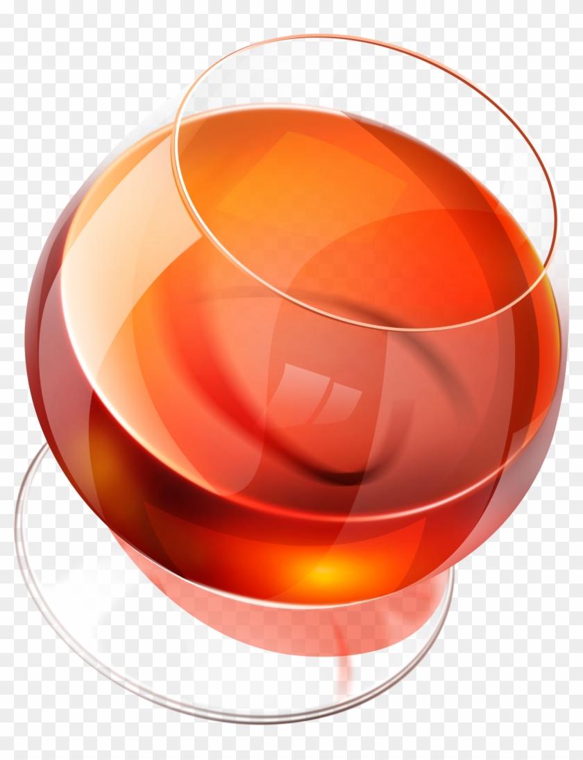Glass Png Image - Cognac Vector Transparent #194888