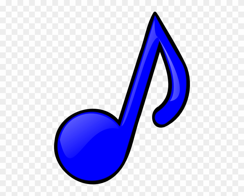 Blue Music Note Png Clip Art - Colourful Music Notes Clipart #194890