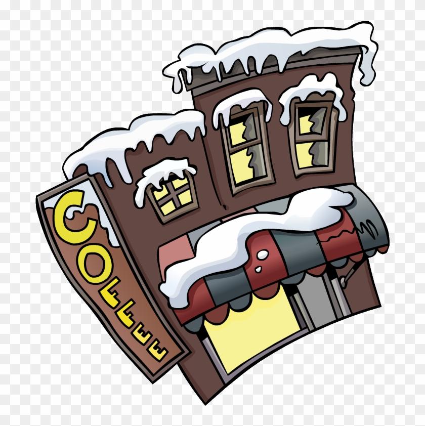Coffee - Shop - Outside - Coffee Shop Club Penguin #194916