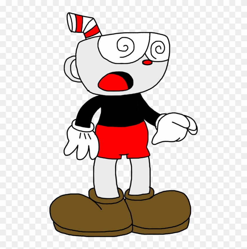 Cuphead With Spirals On Eyes By Marcospower1996 - Marcospower1996 Cuphead #194927