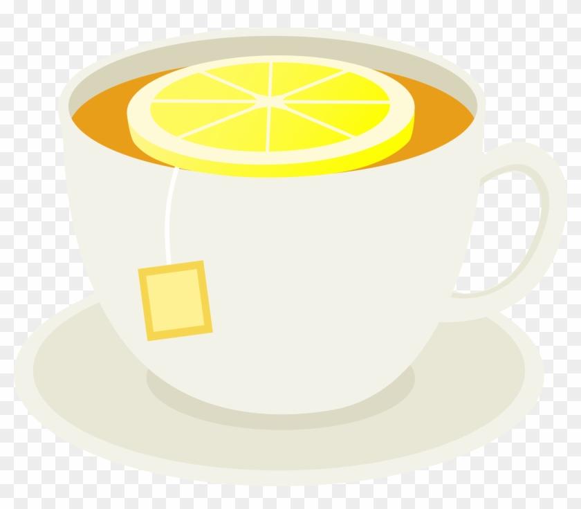 Cup Clipart Yellow Tea - Tea And Lemon Clipart #194947