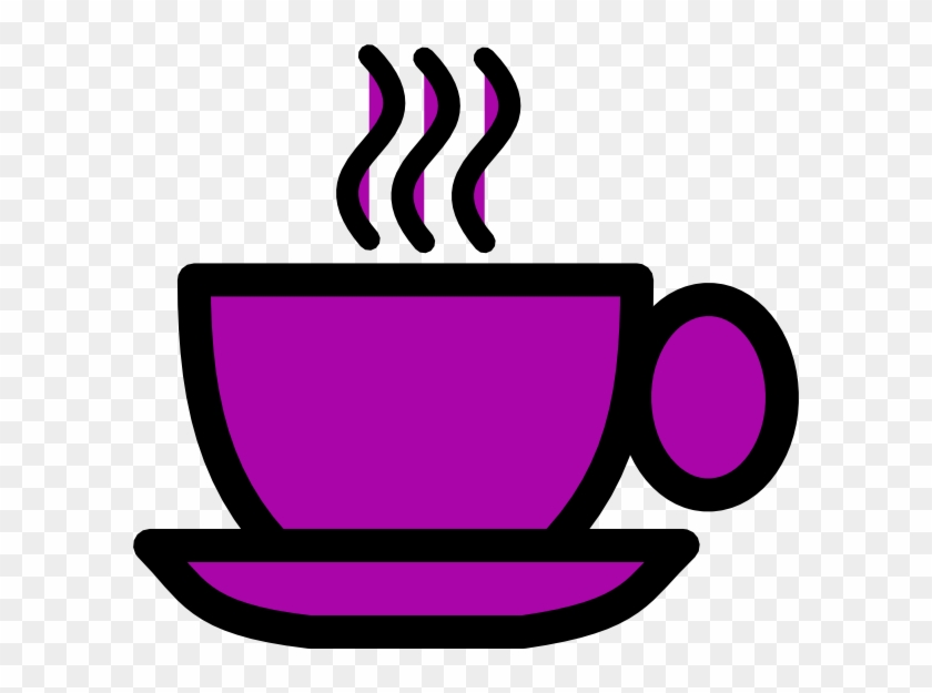 Purple Tea Cup Clip Art At Clker - Coffee Cup Clipart Png #194957