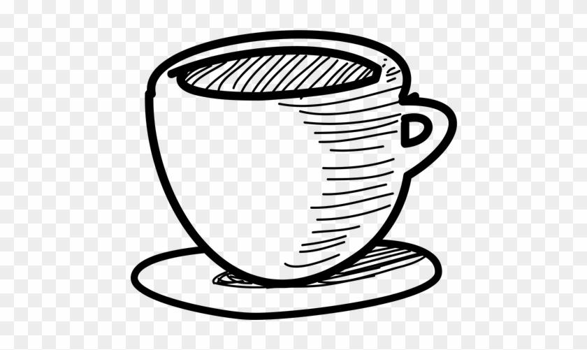 Drawn Teacup Victorian - Hand Drawn Tea Cup #194975