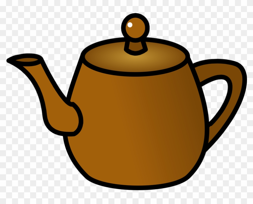Symbol Drinks Tea - Brown Teapot Clipart #194981