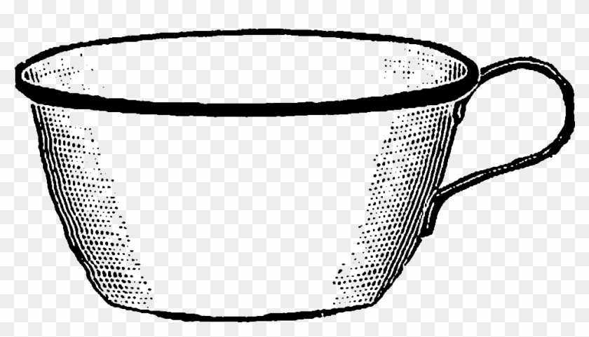 Clip Art Are Of Antique Coffee Mugs - Digital Stamp #194988