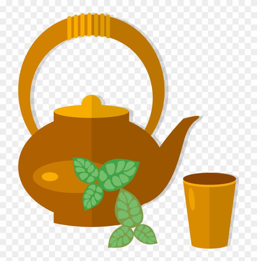 Teapot Teacup Green Tea - Teacup #195003