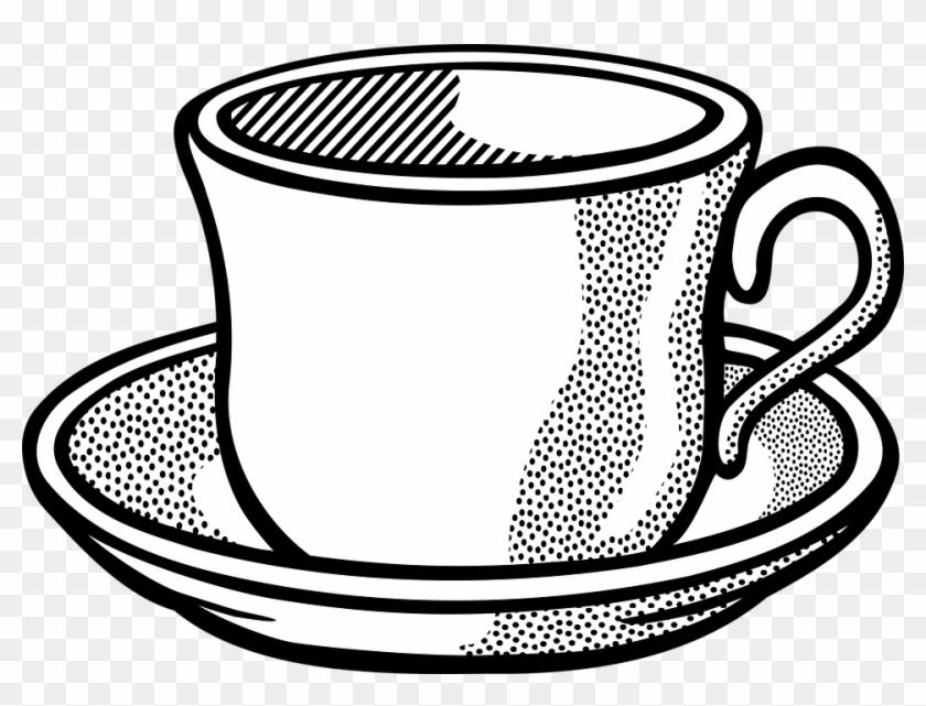 Coffee Cup Tableware Tea Tee Coffee Coffee - Cup Line Art #195019